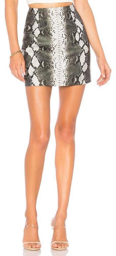 by the way. Cassandra Snake Mini Skirt