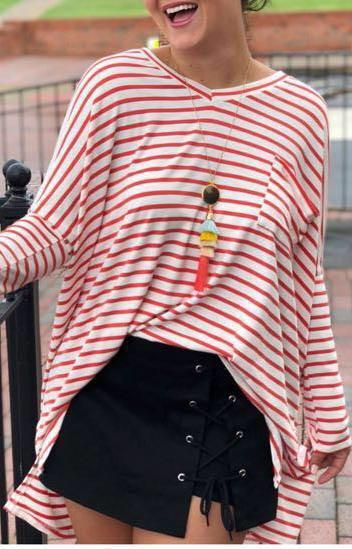 Black Lace Up Jean Skort