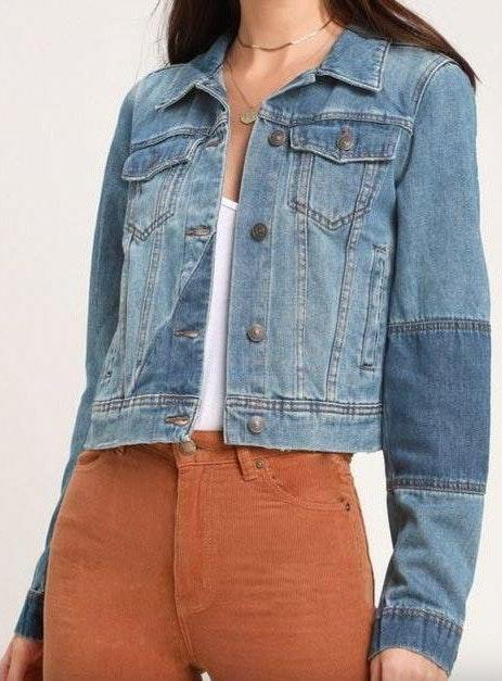 Free People Two Tone  jean jacket