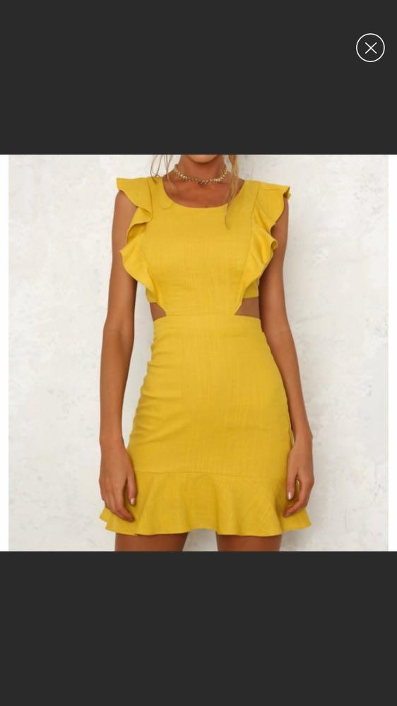 Hello Molly Mustard Dress