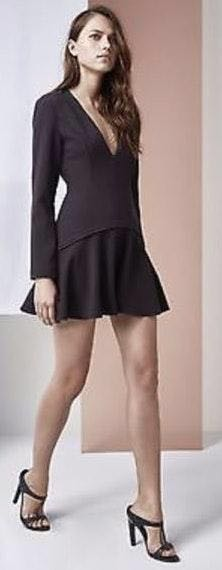 Finders Keepers Black Long Sleeve Dress