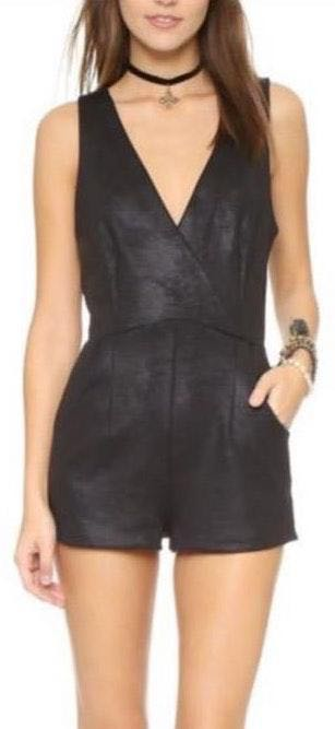 Free People Faux Leather Romper