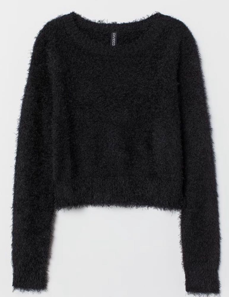 Divided Fluffy Sweater