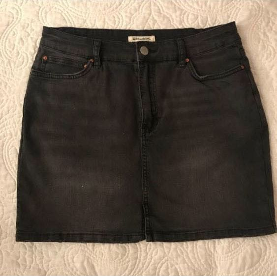 Billabong black jean skirt