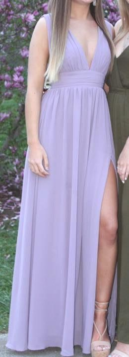 Lulus Light Purple Long Formal Dress