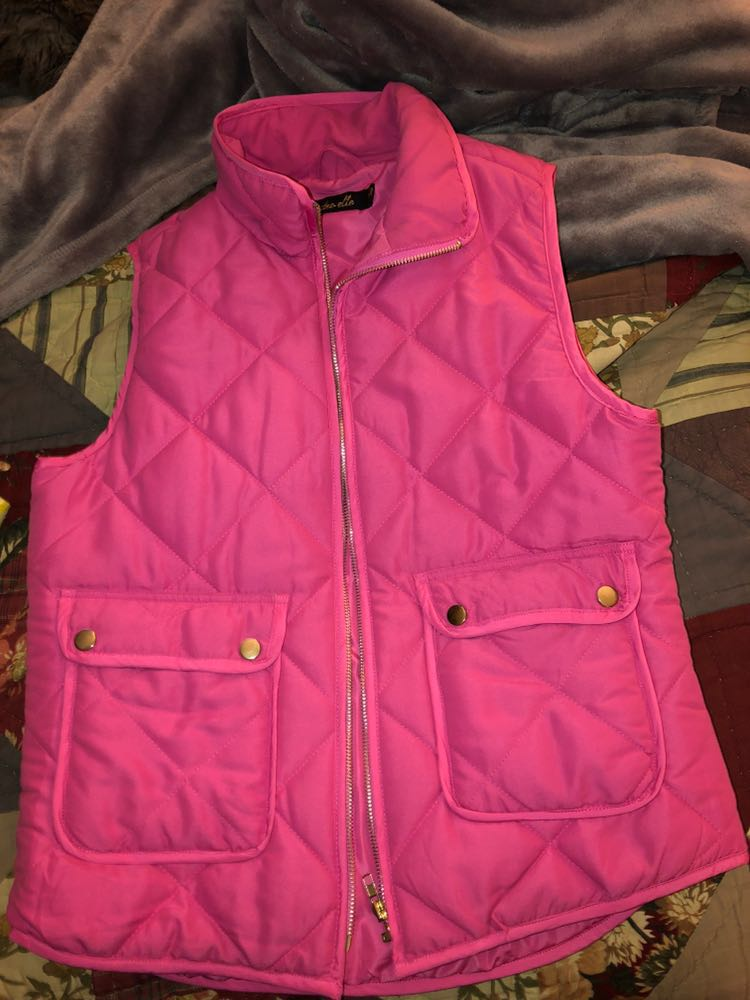 Dry Goods Pink Puffy Vest w/ pockets