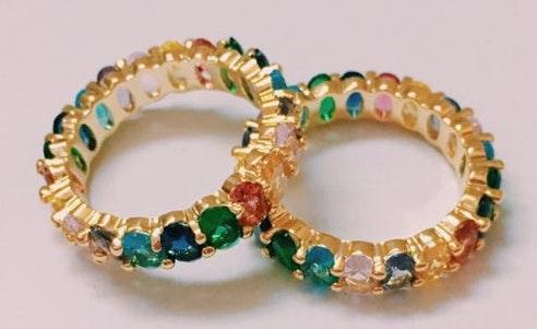 ljdrip rainbow crystal ring