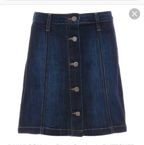562fa56af932 We're the buy/sell app for cute clothes. Say to being bored of your  clothes. Home Just Black Denim Dark Blue Wash Denim Button Up Skirt