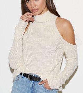 Kendall & Kylie Pacsun Cold Shoulder Sweater