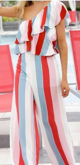 DO+BE Two Piece Stripe Pants Set