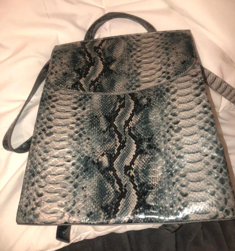 French Connection Snakeskin Backpack