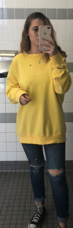 H&M Men's Yellow Pullover