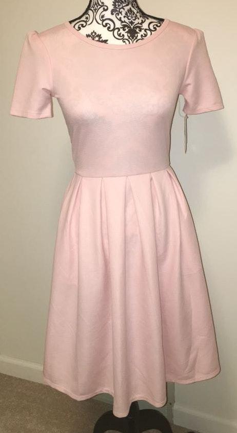LuLaRoe Solid Pink Amelia