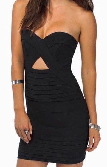 Tobi Strapless Cutout Mini Dress