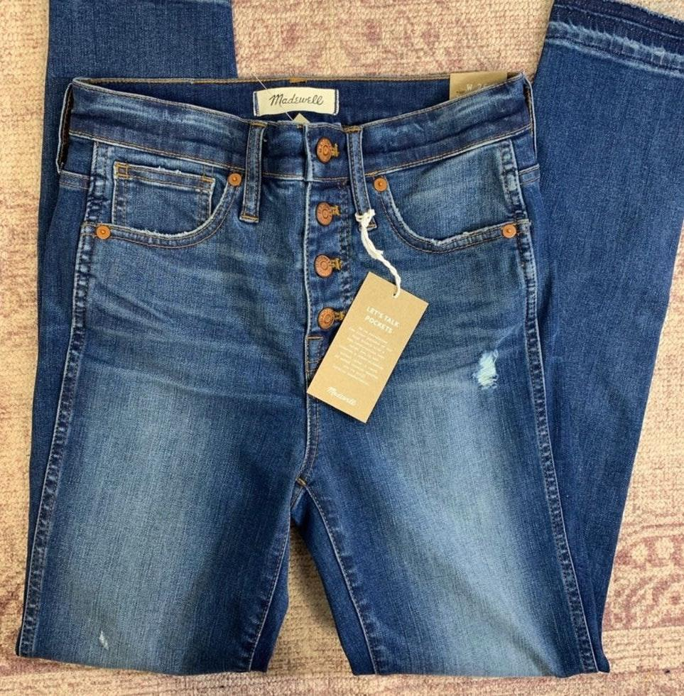 """Madewell 10"""" Button Fly High Rise Jeans"""