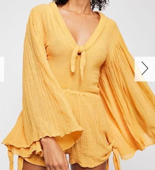 Free People Yellow Romper