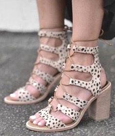 Dolce Vita Leopard Lace Up Heel