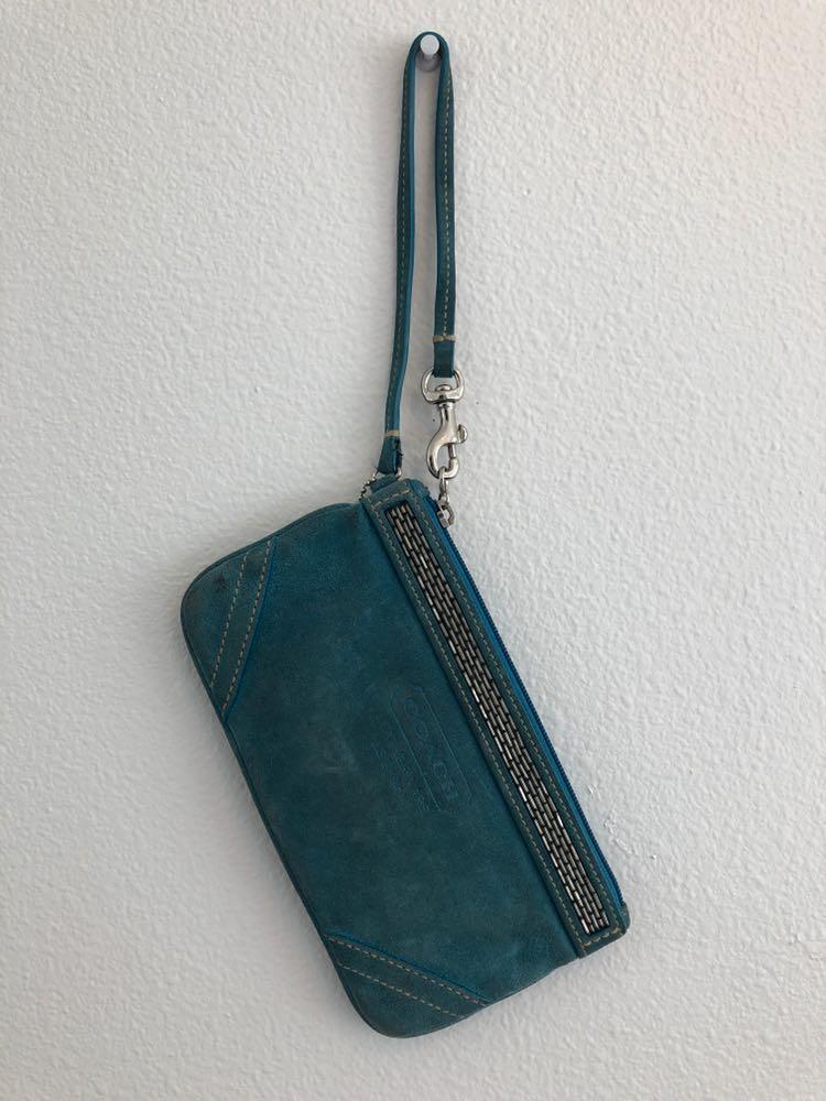 outlet store 0287c f1d79 Coach Blue Wristlet