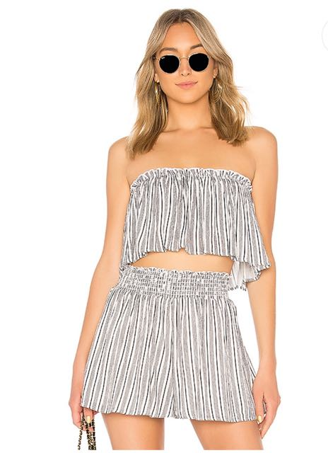 Likely Strapless Crop Top