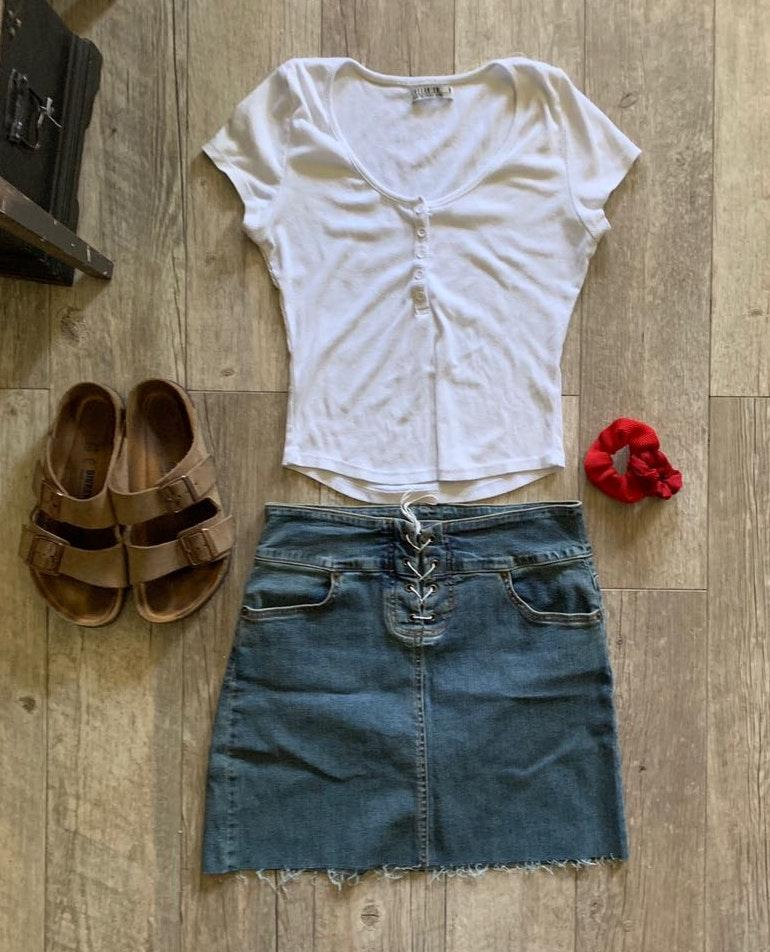 Hot Kiss Vintage Mini Skirt
