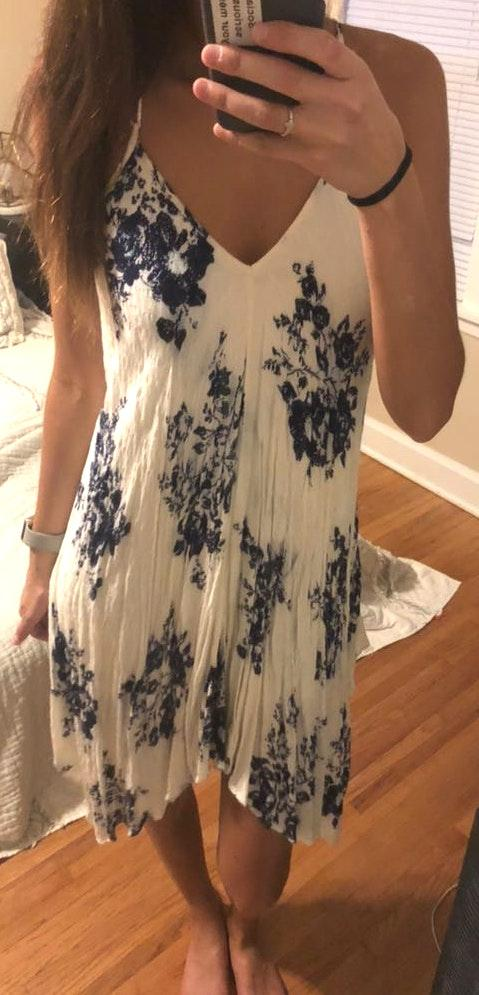 Love Stitch White Floral Dress