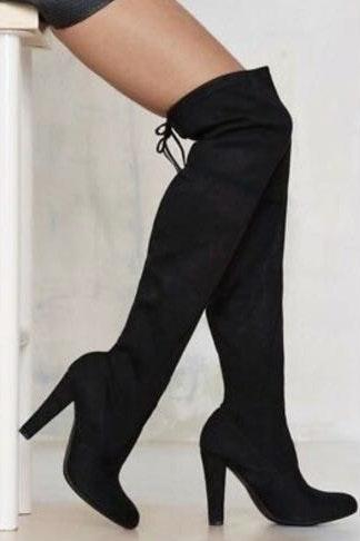 Steve Madden Over The Knee Lace Up Boots