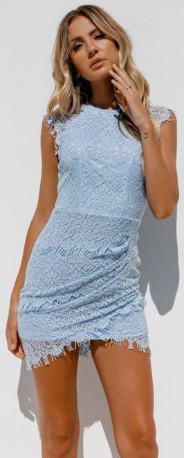 Xenia Blue Lace Dress