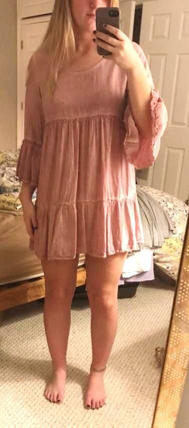 Umgee light pink flowy dress