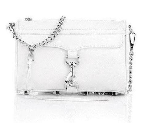 Rebecca Minkoff White Mini Mac Crossbody