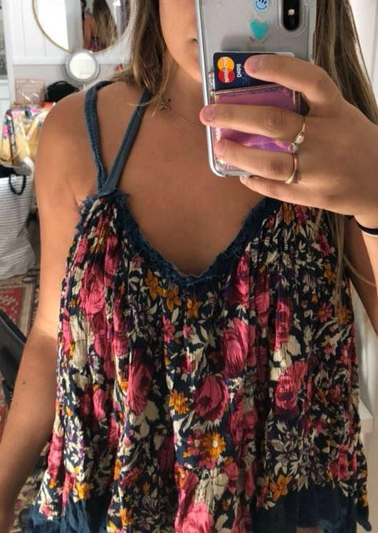 flowery free people top