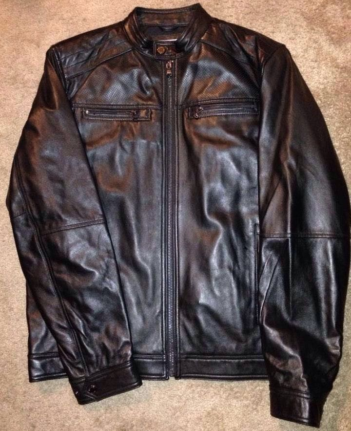 eaa60da3b Michael Kors Men's Leather Jacket