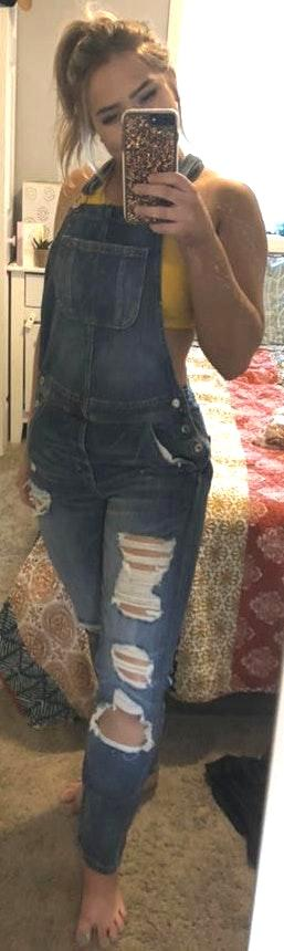 American Eagle Outfitters Distressed Overalls