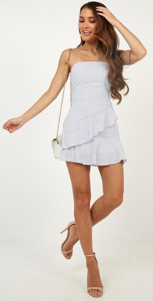 Showpo Blue strapless dress