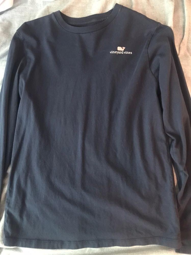 Vineyard Vines VV Navy Blue Long Sleeved Shirt
