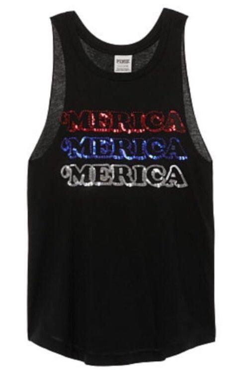 Victoria s Secret PINK America Sequin Bling Tank  573249318