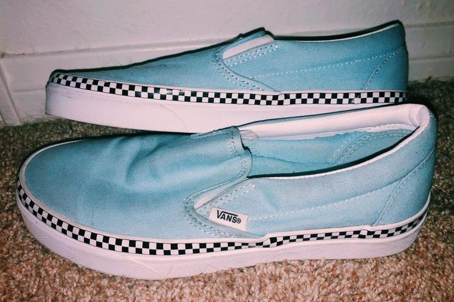 Vans blue checkered