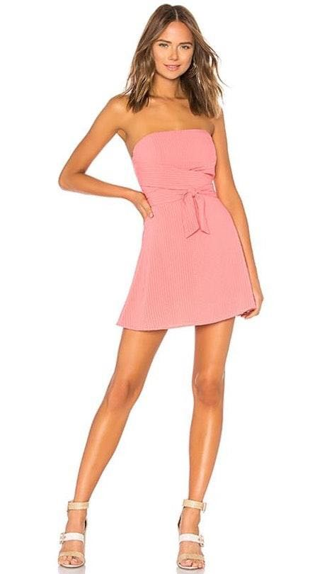 by the way. Revolve Wrap Dress in Peach