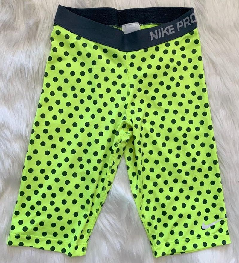 "Nike Pro 11"" Bike Shorts - Polka Dot - Medium"