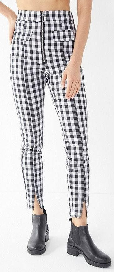 Urban Outfitters High Rise Gingham Pants