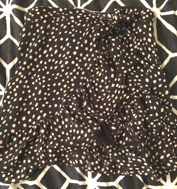 Urban Outfitters Dotted Ruffle Skirt