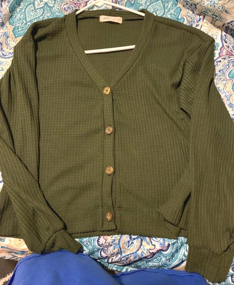 FALL Olive Green Sweater