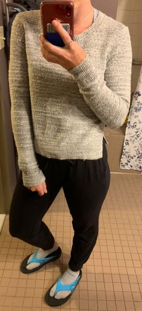 Aerie Grey Pull Over Sweater