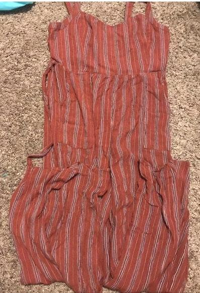 American Eagle Outfitters Rust Colored Jumpsuit