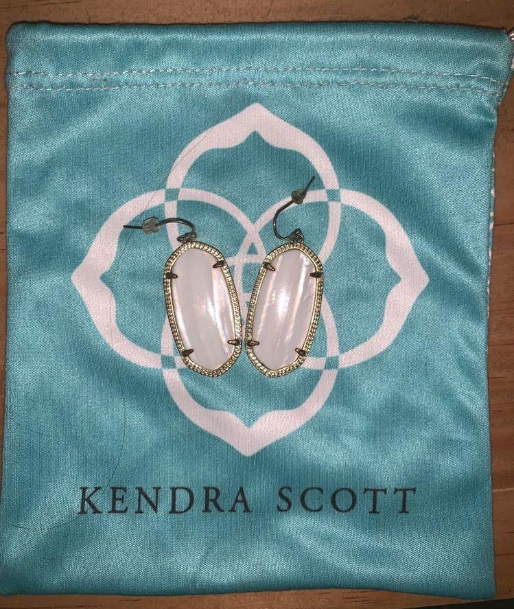 Kendra Scott White Pearl Earrings