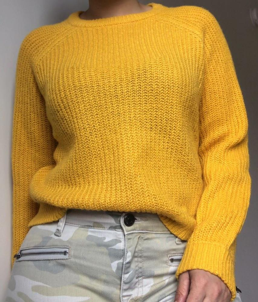 Forever 21 Yellow Knit Sweater