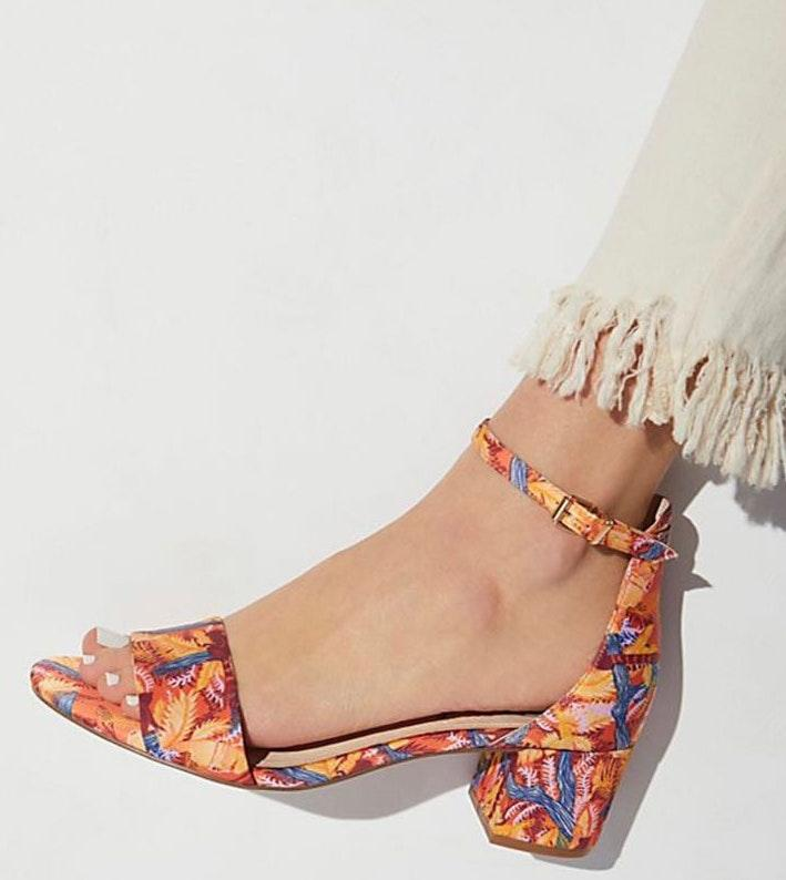 Free People Marigold Printed Block Heel