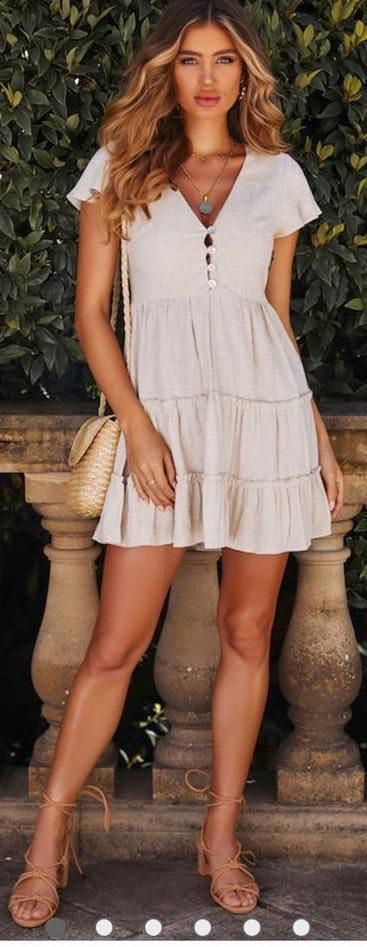 Hello Molly Tan dress NWT
