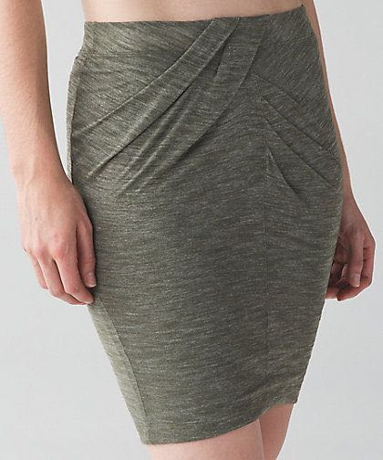 Lululemon Green Yoga Haven Skirt