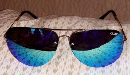 Quay Australia Quay Muse mirrored aviator sunglasses