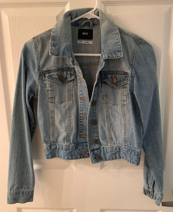 Urban Outfitters Cropped Jean Jacket
